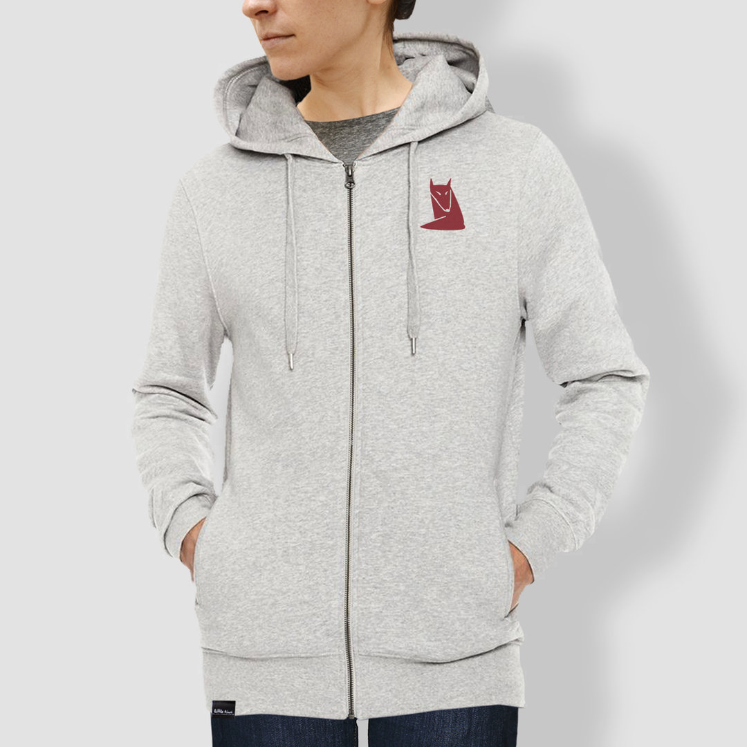 "Unisex Hoodie, ""Fuchs"", Heather Grey"