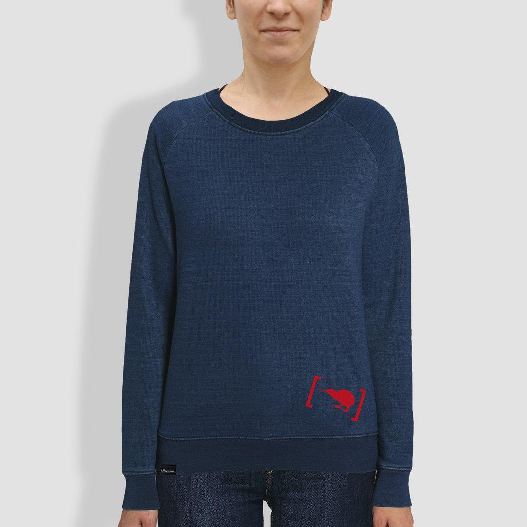 16323d3b65037a Indigo-Sweatshirt aus Bio-Baumwolle für Frauen