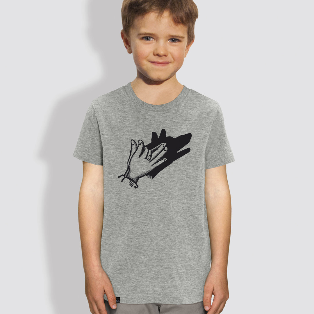 "Kinder T-Shirt, ""Schattenspiel"", Heather Grey"
