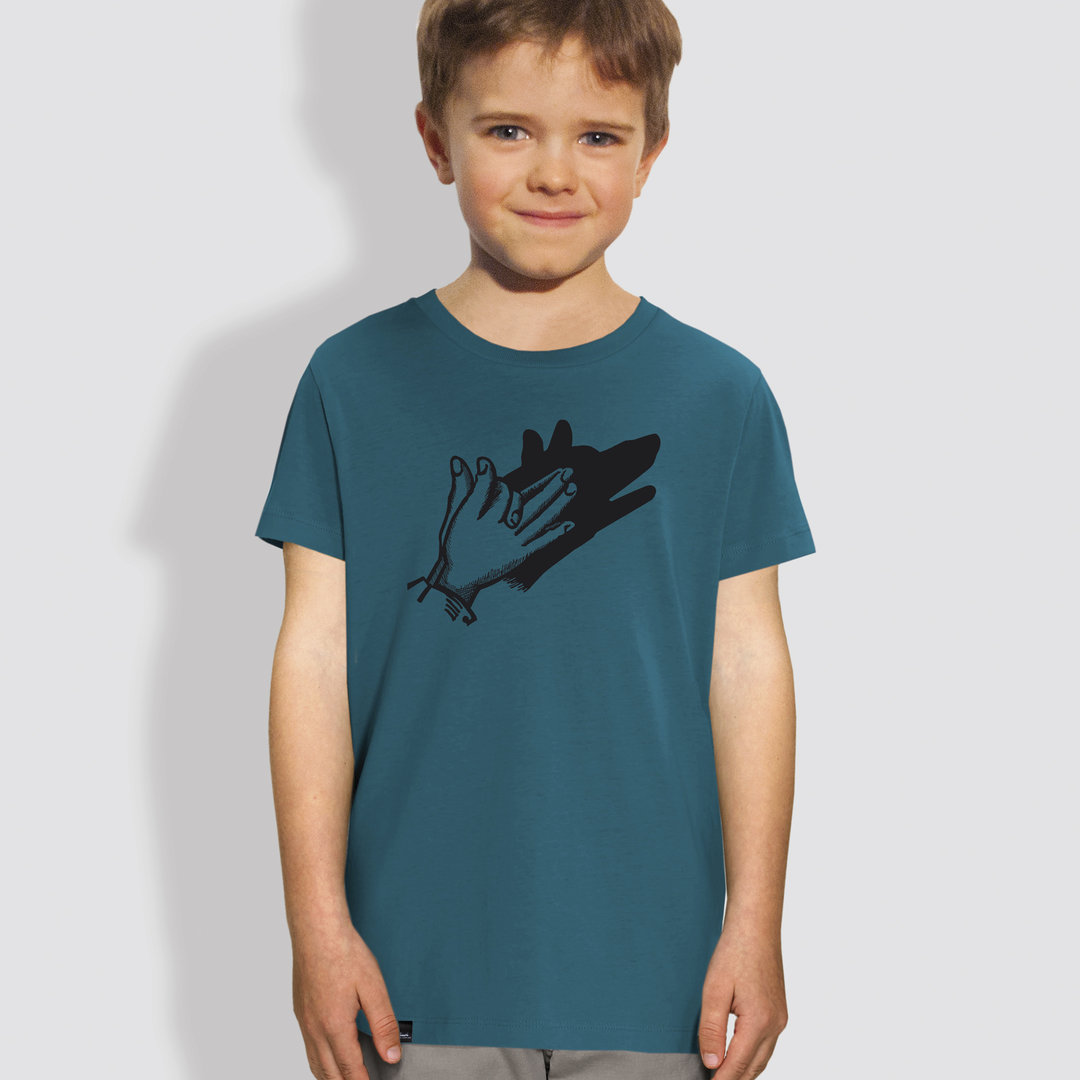 "Kinder T-Shirt, ""Schattenspiel"", Ocean Depth"